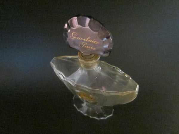 Shalimar Guerlin Paris Vintage Baccarat Crystal Signature Perfume Bottle