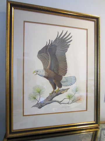 Albert Earl Gilbert Bald Eagle Mid Century Signed Lithograph - Designer Unique Finds   - 3