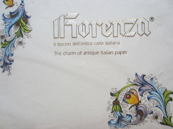 Fiorenza Italy Stationary Set Decorated Colorful Flowers Butterfly - Designer Unique Finds