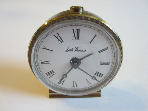 Seth Thomas Germany Miniature Hand Winding Clock - Designer Unique Finds