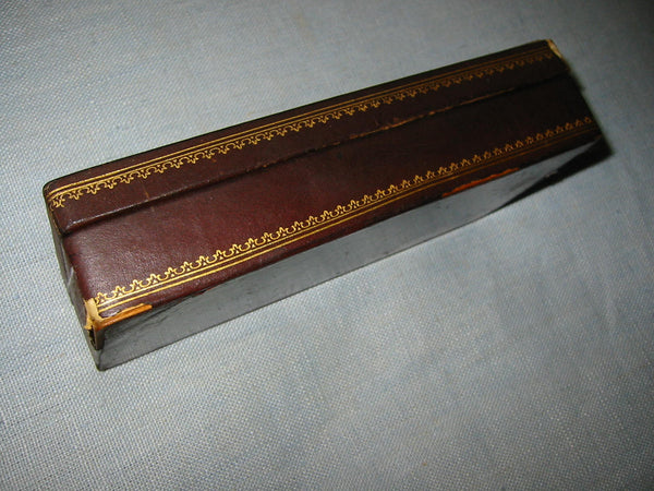 Italian Leather Humidor Cigar Box Embossed Gold Floral Decoration - Designer Unique Finds   - 5