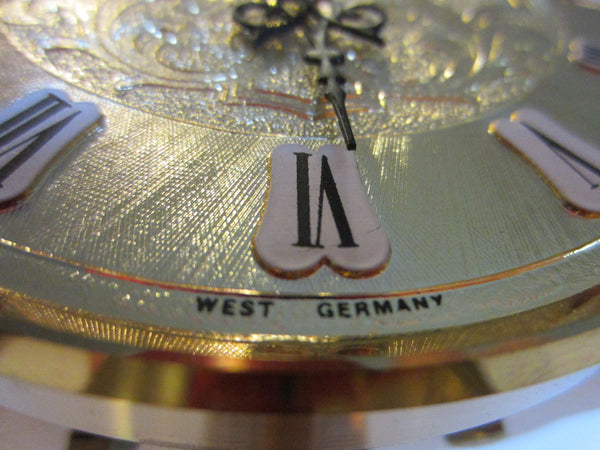 Kundo West Germany Anniversary Mantle Clock Octagonal Style - Designer Unique Finds