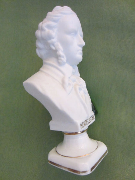 Andrea Japan European Composers Busts Bisque Figurine Suite - Designer Unique Finds   - 6