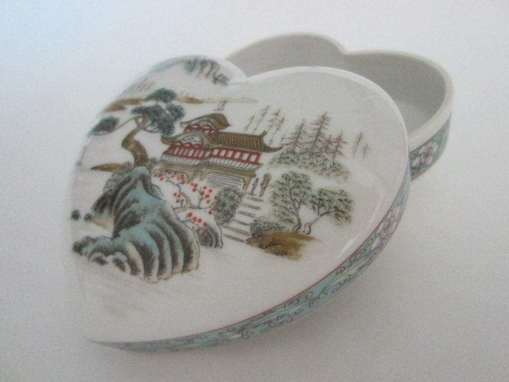Fine China Exclusively For Ben Rickert Inc Made In Japan Heart Shaped Box