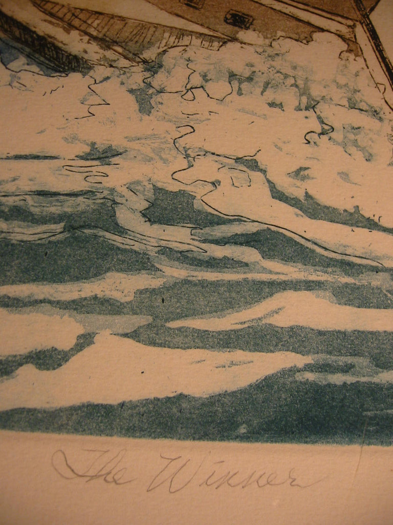 Lupe Chown California Aquatint Lithograph Quot The Winner