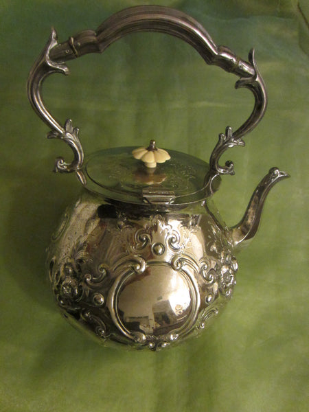 Mappin Brothers London Silver Teapot Kettle Lion Medallions Hallmarks - Designer Unique Finds   - 11