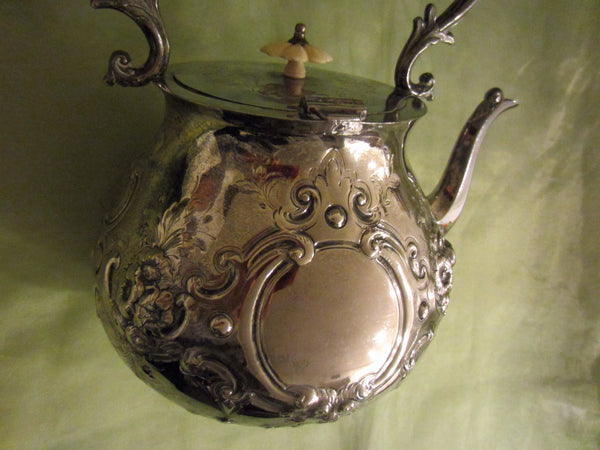 Mappin Brothers London Silver Teapot Kettle Lion Medallions Hallmarks - Designer Unique Finds   - 8