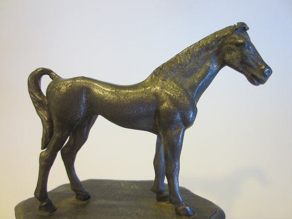 Equestrian Pewter Miniature Folk Art Horse - Designer Unique Finds