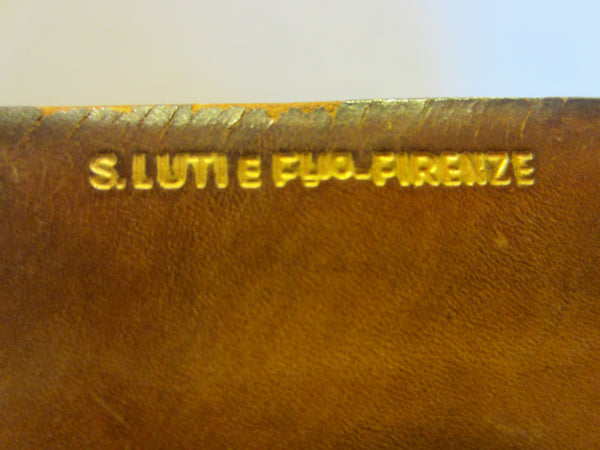 S Lutie Firenze Embossed Art Deco Leather Box - Designer Unique Finds   - 2