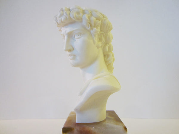 A Giannelli Volterra David Signed Alabaster Bust Copyrighted - Designer Unique Finds