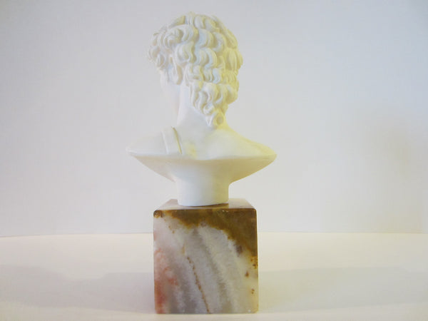 David By A Giannelli Volterra Signed Alabaster Bust Copyrighted - Designer Unique Finds