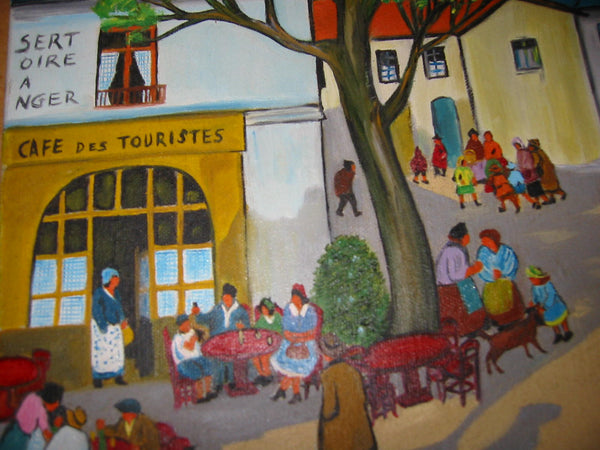 D Berg Impressionist France Village Views Signed Oil On Canvas - Designer Unique Finds   - 4