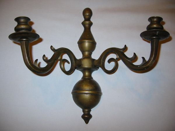Brass Candle Wall Sconce Made In Italy - Designer Unique Finds   - 3