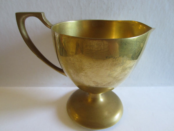 Dirilyte Mid Century Brass Modern Trophies Creamer Sugar - Designer Unique Finds