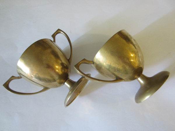Dirilyte Mid Century Brass Modern Trophies Contemporary Creamer Sugar - Designer Unique Finds   - 3