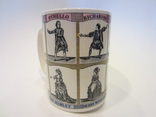 Wedgwood William Shakespeare Playwright Poet Great Britain Porcelain Mug - Designer Unique Finds