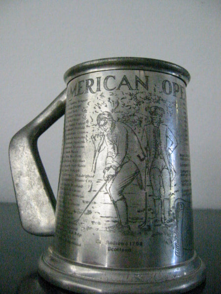 American Open Championship Pewter Sheffield Tankard St Andrews 1798 Scotland - Designer Unique Finds