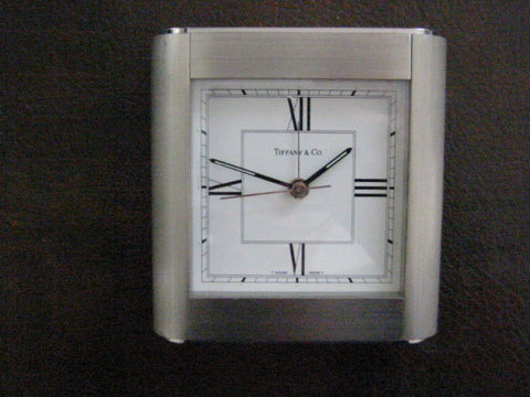 Tiffany & Co Swiss Alarm Clock Switzerland Mid Century - Designer Unique Finds