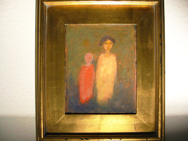Portrait of Woman Child By Roky Roka Impressionist Oil On Board - Designer Unique Finds