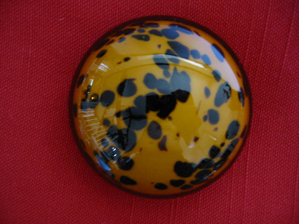 Leopard Design Hand Blown Modern Glass Paperweight - Designer Unique Finds