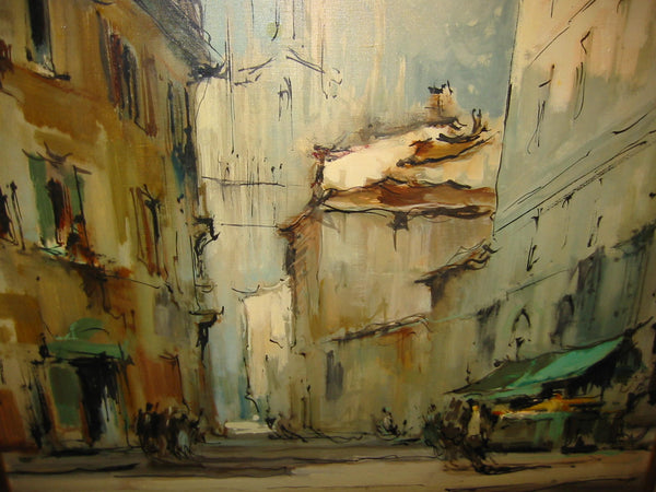 G Frati Italy City View Oil on Canvas Artist Proof - Designer Unique Finds   - 3