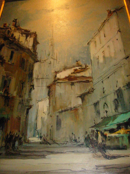 G Frati Italy City View Oil on Canvas Artist Proof - Designer Unique Finds   - 5