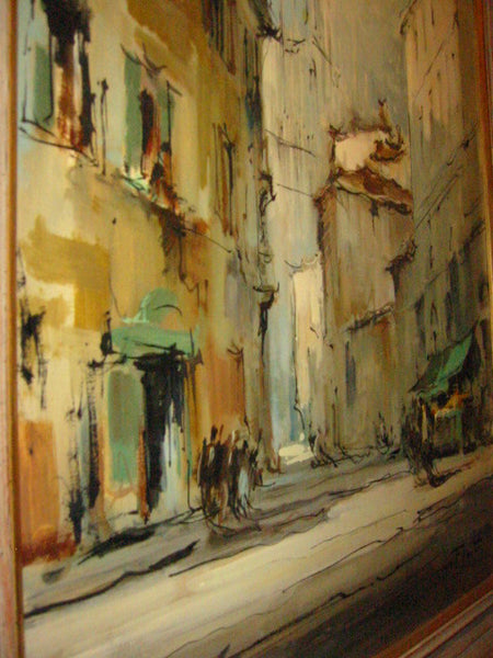 G Frati Italy City View Oil on Canvas Artist Proof - Designer Unique Finds   - 7