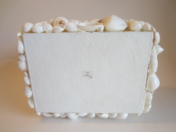 Rectangle White Shell Covered Box Made in Philippines - Designer Unique Finds