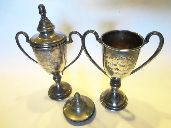 Silver Plated Trophies Foreign Minister Cup Open Championship - Designer Unique Finds   - 1