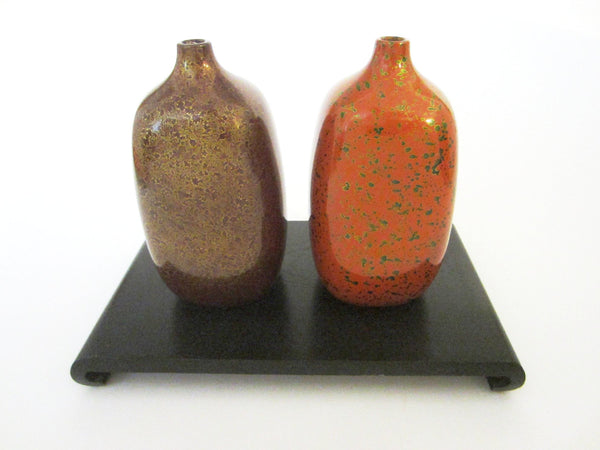 Fine Arts Japan Ceramic Vases Gold Specs - Designer Unique Finds