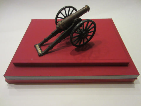 Yorktown VA Cast Iron Cannon MF Co Brass Paperweight - Designer Unique Finds
