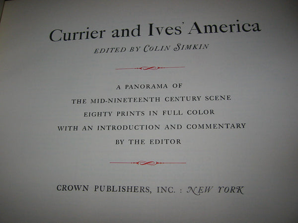 Collin Simkin Currier Ivs America Illustrated Book - Designer Unique Finds   - 7