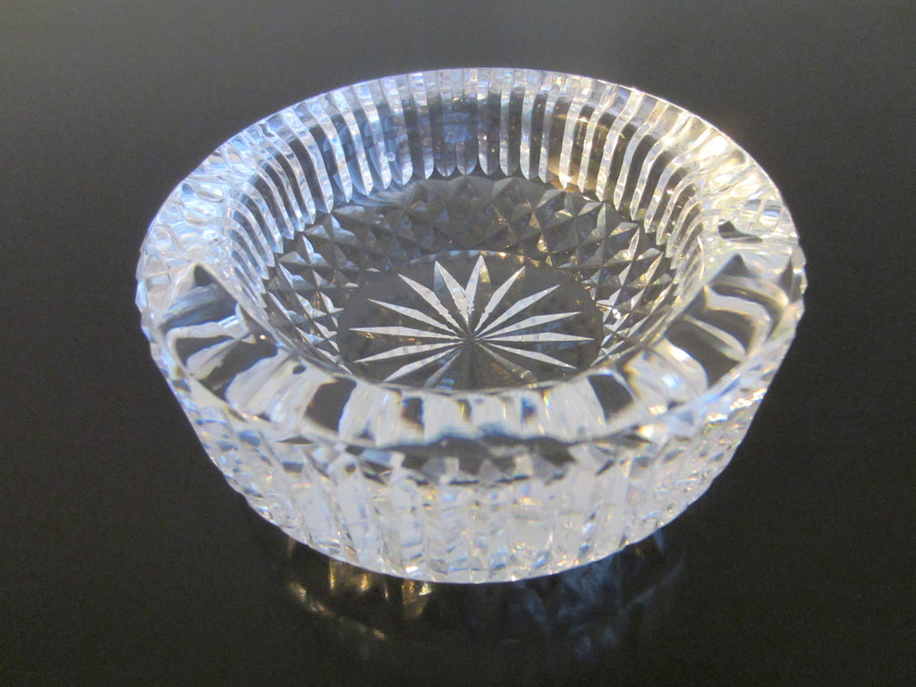 Waterford Crystal Ashtray Bowl Star Cut With Mark From Ireland - Designer Unique Finds