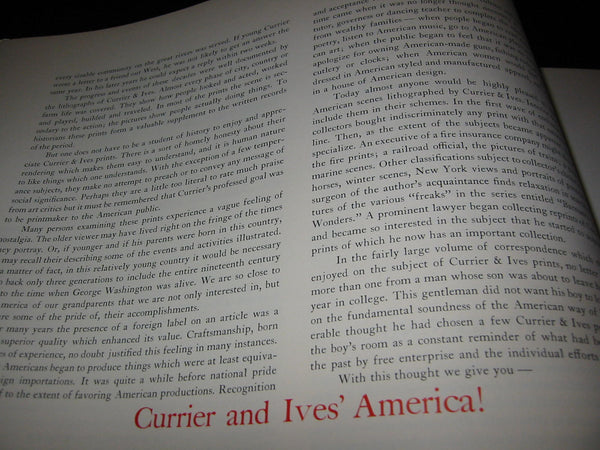 Collin Simkin Currier Ivs America Illustrated Book - Designer Unique Finds   - 6
