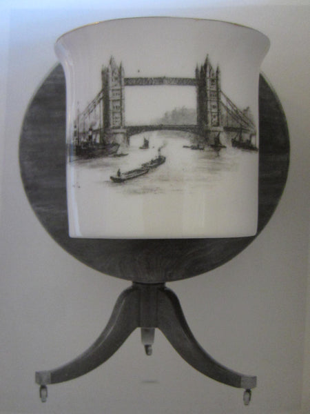 Royal Worcester Bone China Toothpick Holder The Tower Bridge