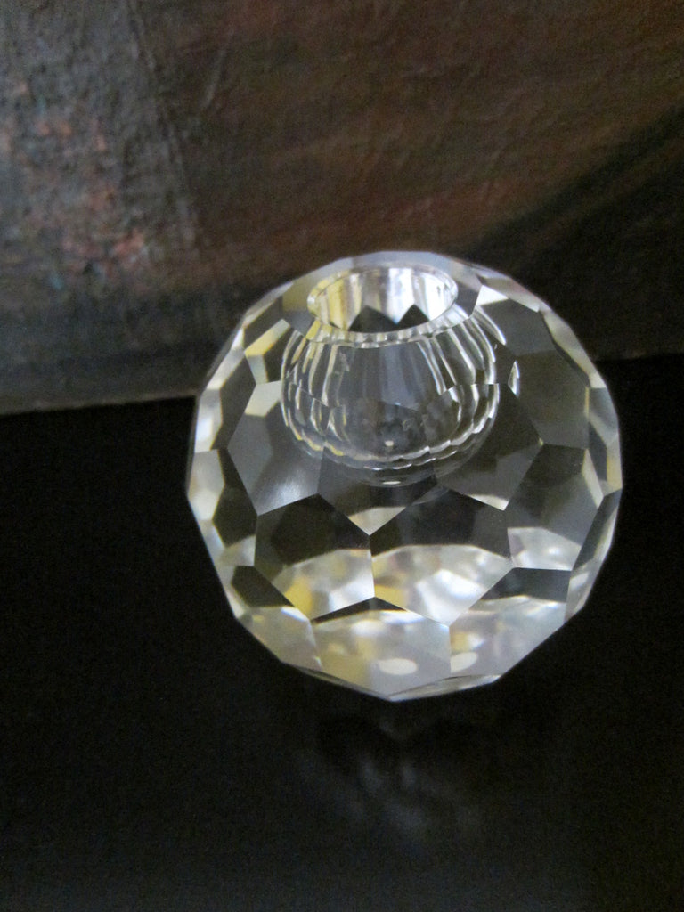 Japanes Post House Crystal Globe Candle Holder - Designer Unique Finds