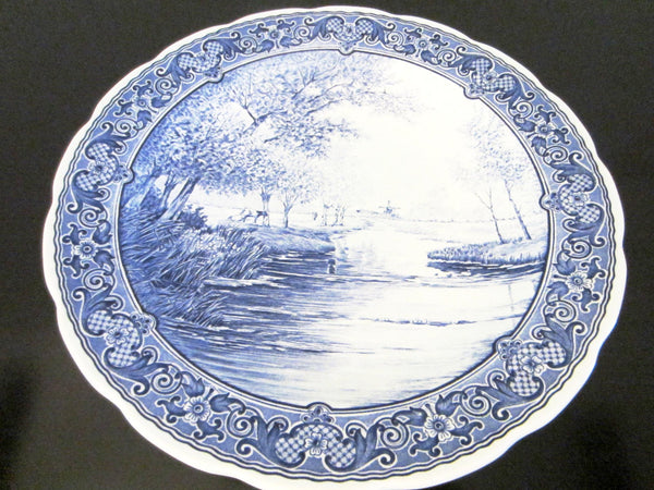 Blue Delft Charger Royal Sphinx Boch Transfer Dutch Landscape - Designer Unique Finds   - 1