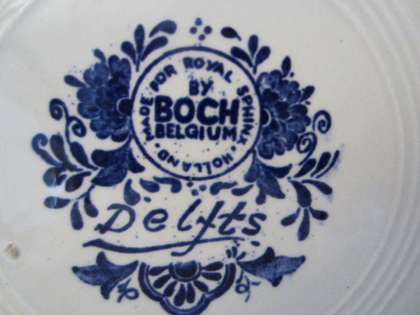 Royal Sphinx Boch Blue Delft Charger Transfer Dutch Landscape