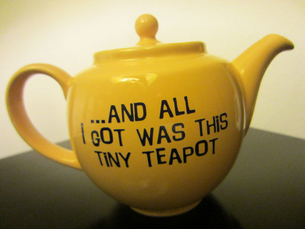 James Sadler England Yellow Ceramic Teapot Big Breakfast - Designer Unique Finds