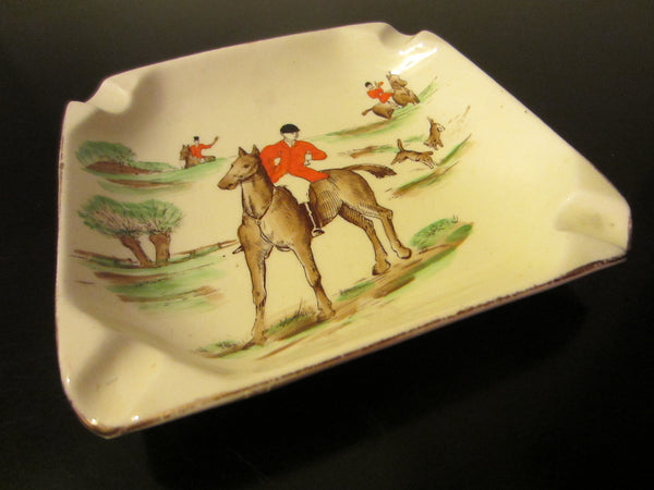 Empire Ware Stoke On Trent England Hunting Scene Signed Ashtray - Designer Unique Finds   - 3