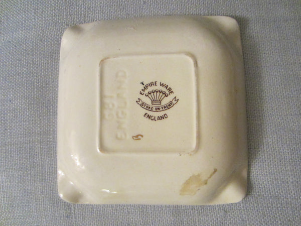Empire Ware Stoke On Trent England Hunting Scene Signed Ashtray - Designer Unique Finds   - 4