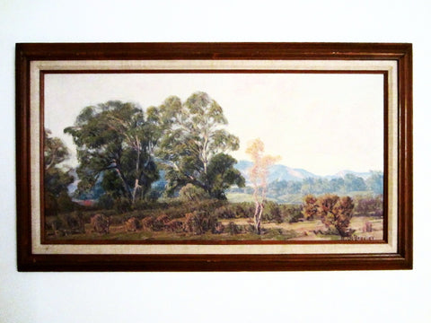 A C Bradley Impressionism Plein Air Oil On Canvas - Designer Unique Finds   - 1