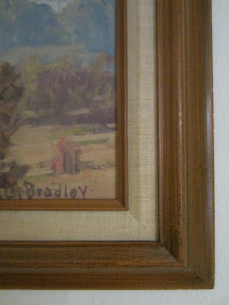 A C Bradley Impressionism Plein Air Oil On Canvas - Designer Unique Finds   - 4