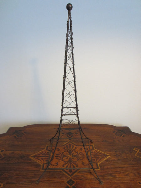 Monumental Architectural Metal Art Wired Eiffel Tower Folk Art Sculpture