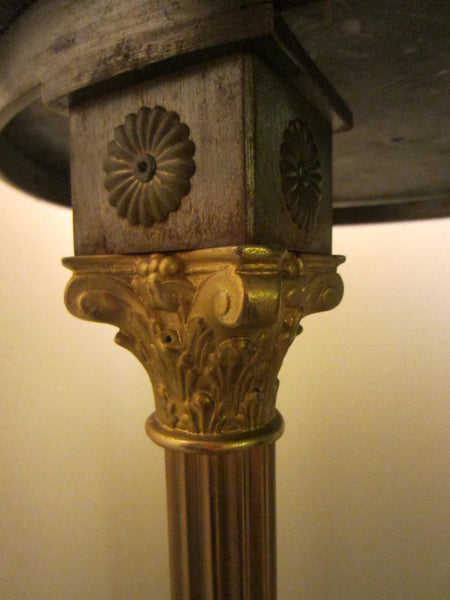 Georgian Tripod Stand Partial Gilt Bronze English Paw Stone Top Pedestal - Designer Unique Finds