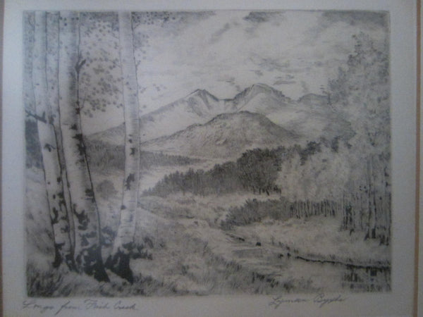 Lyman Byxbe Longs From Fish Creek American Native Etching - Designer Unique Finds
