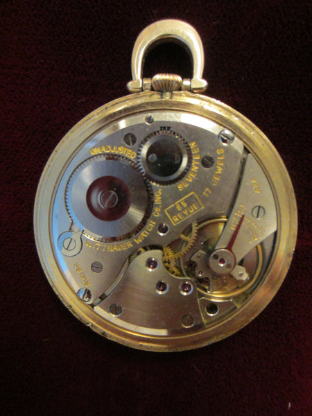 wittnauer swiss pocket open gold plated mid