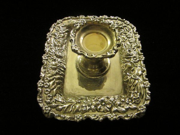 Reproduction Tiffany By Godinger Silver Chamber Candle Holder Floral Design - Designer Unique Finds   - 6