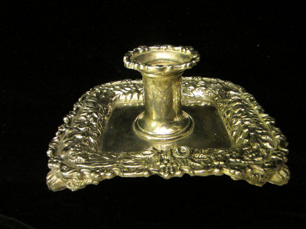 Reproduction Tiffany By Godinger Silver Chamber Candle Holder Floral Design - Designer Unique Finds   - 1