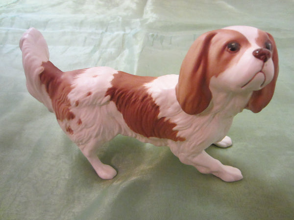 Beswick England Cavalier Dog Bisque Figurine Stamp Marks - Designer Unique Finds   - 1